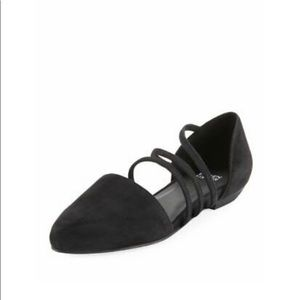 Eileen Fisher Black Dear Suede Flats